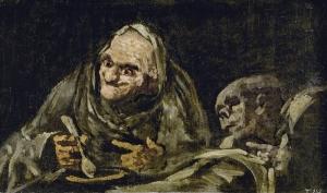 Dos viejas comiendo