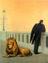 El mal de ausencia (Homesickness) de René Magritte