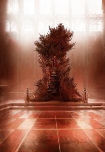 Hermosa recreación del Trono de Hierro por el artista Marc Simonetti (The World of Ice & Fire, Random House)